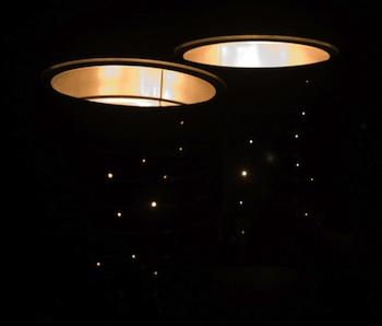 Cheeky Magpie tin can lanterns