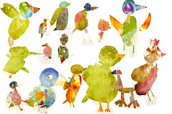 The Art Cart collage birds