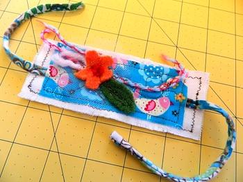 scrappy fabric cuff bracelet