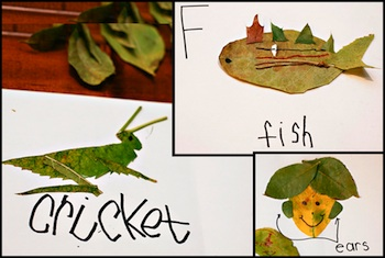 Ashley Ann Photography leaf alphabet