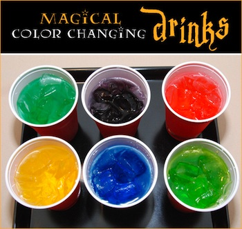 Petit Chef magical color changing drinks