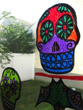 Bookhou Crafts day of the dead suncatchers