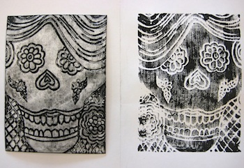 Teach Kids Art day of the dead prints