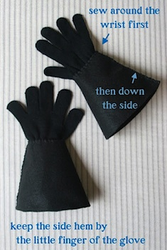 The Brooding Hen costume gloves