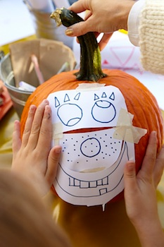 The Crafts Dept. drawn pumpkin carving pictures