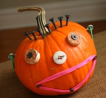 Family Chic junk drawer pumpkins