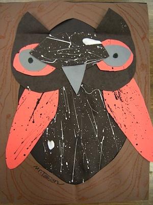 Artolazzi spatter paint owls