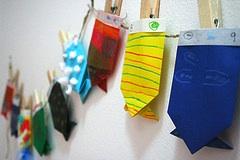 homemade advent calendar origami fish pockets paper craft