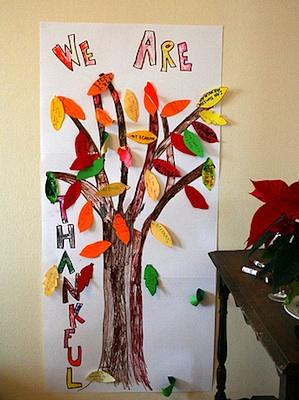 Sycamore Stirrings thanksgiving tree