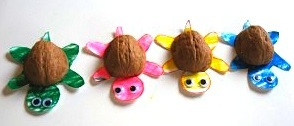 walnut shell turtle craft