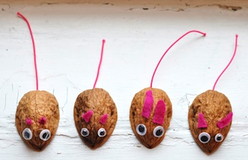 walnut shell mouse craft