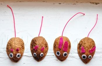 walnut shell mouse craft