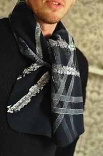 Lilla A tire track print scarf