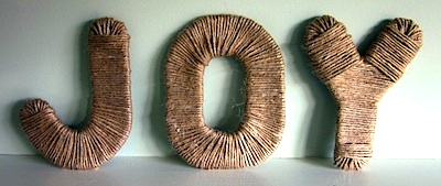 Sense And Simplicity twine wrapped letters