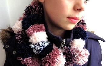 Little Treasures pompom scarf