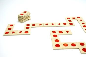 Kedublock potato stamped dominoes
