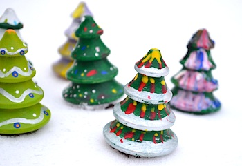Painted Wood Christmas Trees Things To Make And Do Crafts And