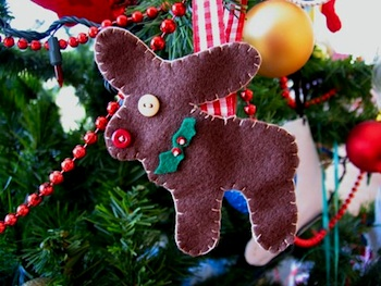 One Crafty Mumma reindeer ornament