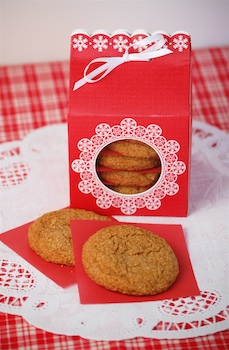 Molasses cookies in MSL packaging