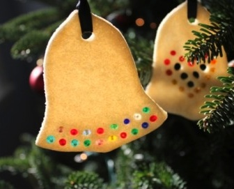 The Artful Parent lacey punched salt dough ornaments