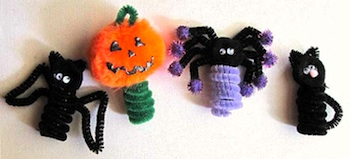 Craft Jr. halloween chenille stem finger puppets