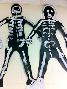 Fairy Dust Teaching skeleton art lesson