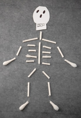 The Crafty Crow q-tip skeleton