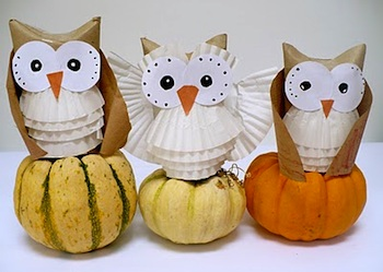 Amelie's House paper craft owls