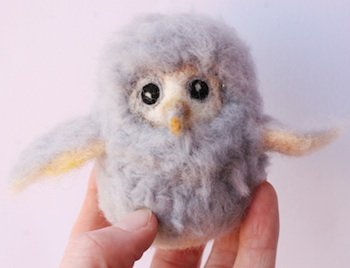 Laura Lee Burch needle felted owl