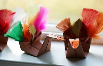 origami turkeys paper craft