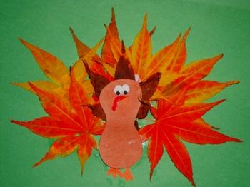 leaf picture turkey craft