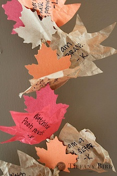 thanksgiving craft thankful garland using recycled paper