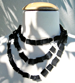 Love Maegan leather strand necklace
