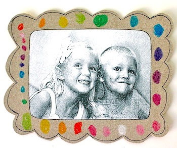 MADE cereal box picture frame