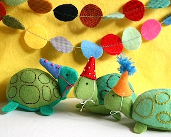 Whip Up felt turtle softie