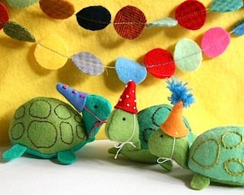 Whip Up felt turtle softie