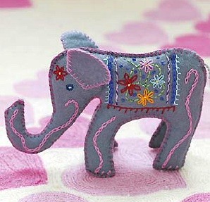 All About You embroidered indian elephant