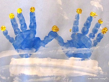 Little Learners hanukkah handprint picture