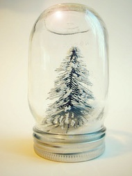 Mother Rising snowglobe tree