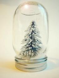Mother Rising snowglobe tree