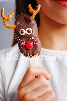 The Idea Room reindeer cookie pop