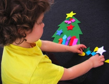 Partycraft Secrets felt christmas tree activity