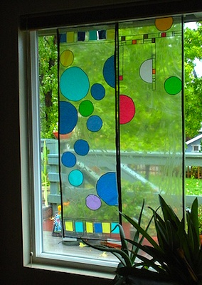 Harmony Art Mom frank lloyd wright bubble window art project