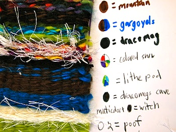 New City Arts weaving and storytelling project