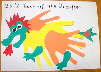 Easy Preschool Crafts paper dragon