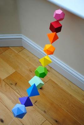Mini-eco math shapes garland