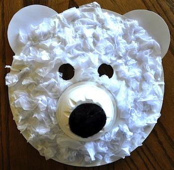 I Heart Crafty Things polar bear mask