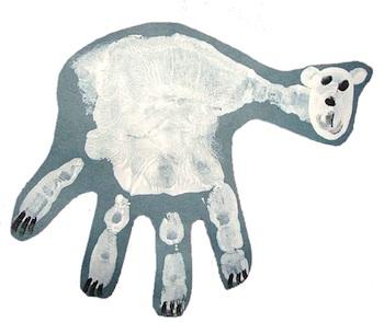 Moments Of Mommyhood polar bear handprint