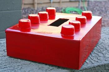 The Pretty Poppy lego valentine box
