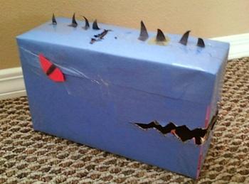 The Dinosaur Boy valentine box